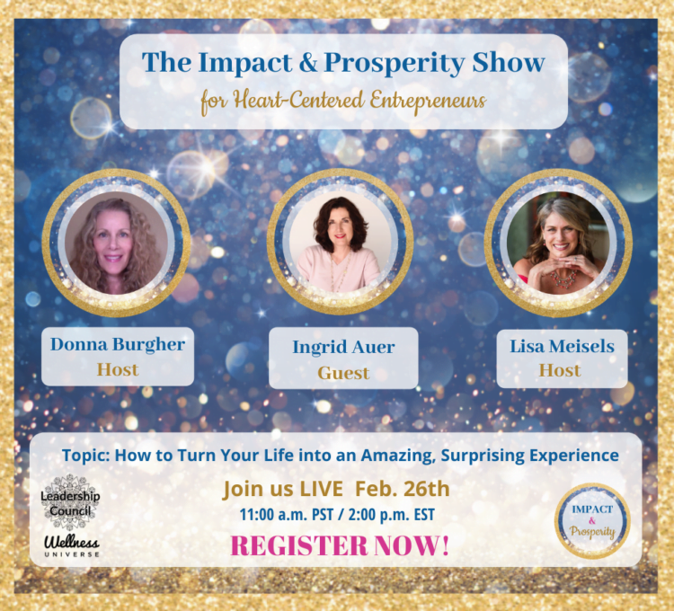 The Impact & Prosperity Show is excited to have Ingrid Auer, as this week's guest speaker. Joi