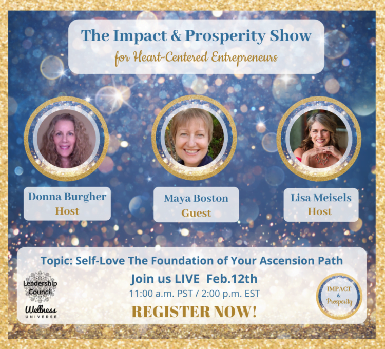 Going LIVE in ONE HOUR! The Impact & Prosperity Show is excited to have Maya Boston, as this wee