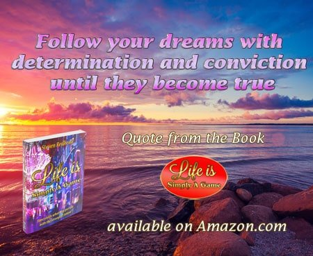 Follow your dreams with determination and conviction until they become true. #SimplyAGame #dreams #d