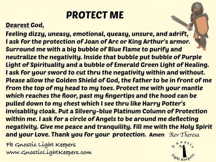 For when you are not really feeling yourself… Protect Me Prayer v 6