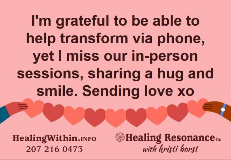I am here for you with spiritual guidance and distance energy healing. Yet, I must acknowledge missi