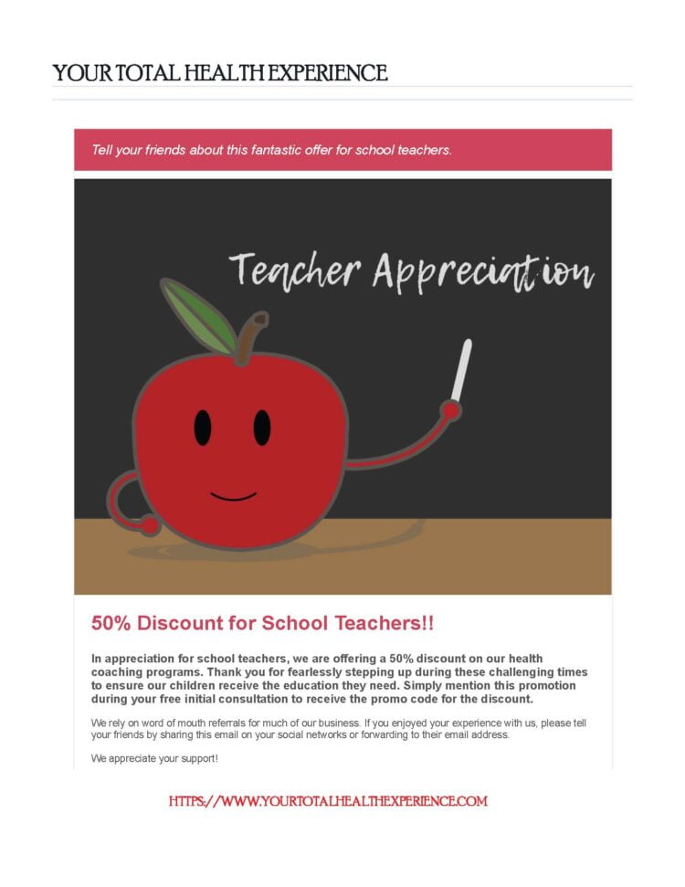 Supporting and honoring our school teachers with an amazing 50% discount! Special Offer😍 Add